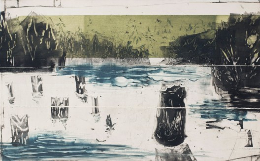 Gyilkos Lake, 2017, monotype, 18.5'x29.5'