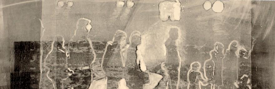 Line, 2018, monotype, 9'x28.5'